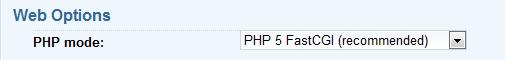 PHP5 FastCGI