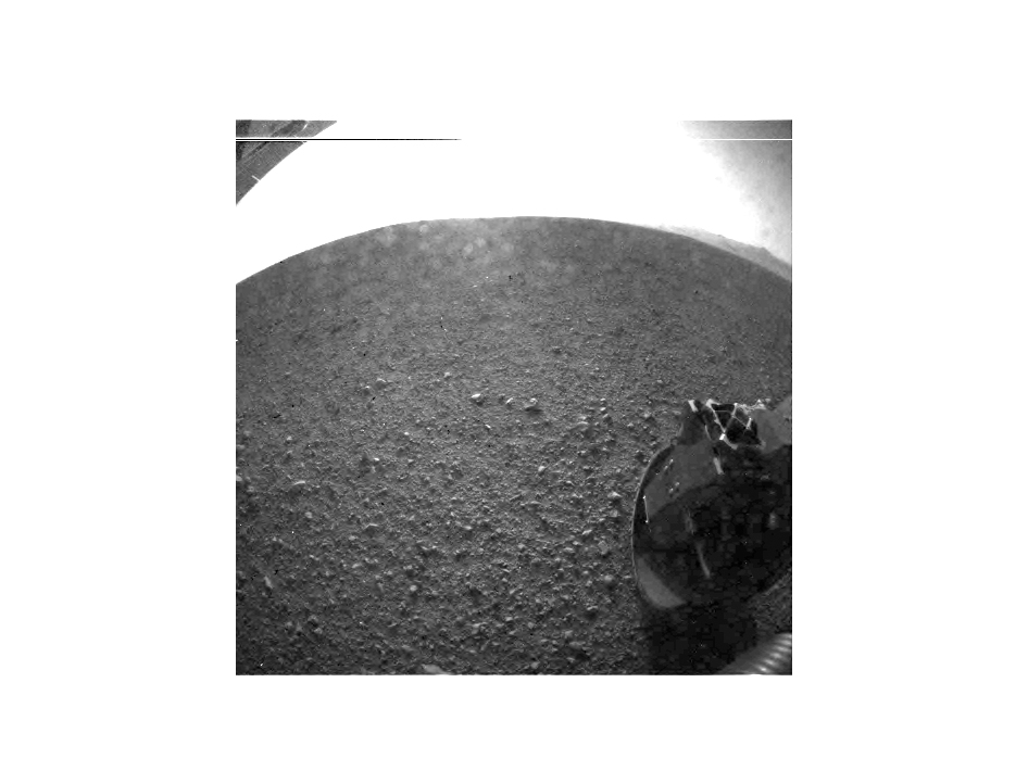 The first Mars photo by Curiosity